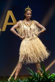Ana Liliana Aviao, Miss Angola 2018 on stage during the National Costume Show, an international tradition where contestants display an authentic costume of choice that best represents the culture of their home country, on December 10th at Nongnooch Pattaya International Convention Exhibition (NICE). The Miss Universe contestants are touring, filming, rehearsing and preparing to compete for the Miss Universe crown in Bangkok, Thailand. Tune in to the FOX telecast at 7:00 PM ET live/PT tape-delayed on Sunday, December 16, 2018 from the IMPACT Arena in Bangkok, Thailand to see who will become the next Miss Universe. HO/The Miss Universe Organization