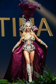 Agustina Pivowarchuk, Miss Argentina 2018 on stage during the National Costume Show, an international tradition where contestants display an authentic costume of choice that best represents the culture of their home country, on December 10th at Nongnooch Pattaya International Convention Exhibition (NICE). The Miss Universe contestants are touring, filming, rehearsing and preparing to compete for the Miss Universe crown in Bangkok, Thailand. Tune in to the FOX telecast at 7:00 PM ET live/PT tape-delayed on Sunday, December 16, 2018 from the IMPACT Arena in Bangkok, Thailand to see who will become the next Miss Universe. HO/The Miss Universe Organization