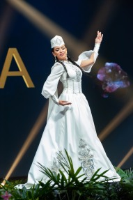 Eliza Muradyan, Miss Armenia 2018 on stage during the National Costume Show, an international tradition where contestants display an authentic costume of choice that best represents the culture of their home country, on December 10th at Nongnooch Pattaya International Convention Exhibition (NICE). The Miss Universe contestants are touring, filming, rehearsing and preparing to compete for the Miss Universe crown in Bangkok, Thailand. Tune in to the FOX telecast at 7:00 PM ET live/PT tape-delayed on Sunday, December 16, 2018 from the IMPACT Arena in Bangkok, Thailand to see who will become the next Miss Universe. HO/The Miss Universe Organization