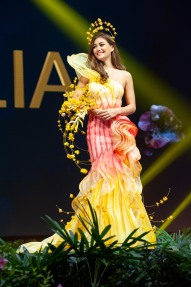 Francesca Hung, Miss Australia 2018 on stage during the National Costume Show, an international tradition where contestants display an authentic costume of choice that best represents the culture of their home country, on December 10th at Nongnooch Pattaya International Convention Exhibition (NICE). The Miss Universe contestants are touring, filming, rehearsing and preparing to compete for the Miss Universe crown in Bangkok, Thailand. Tune in to the FOX telecast at 7:00 PM ET live/PT tape-delayed on Sunday, December 16, 2018 from the IMPACT Arena in Bangkok, Thailand to see who will become the next Miss Universe. HO/The Miss Universe Organization
