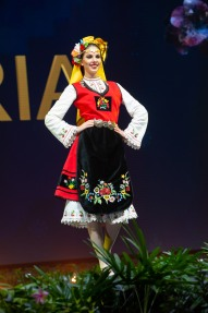 Gabriela Topalova, Miss Bulgaria 2018 on stage during the National Costume Show, an international tradition where contestants display an authentic costume of choice that best represents the culture of their home country, on December 10th at Nongnooch Pattaya International Convention Exhibition (NICE). The Miss Universe contestants are touring, filming, rehearsing and preparing to compete for the Miss Universe crown in Bangkok, Thailand. Tune in to the FOX telecast at 7:00 PM ET live/PT tape-delayed on Sunday, December 16, 2018 from the IMPACT Arena in Bangkok, Thailand to see who will become the next Miss Universe. HO/The Miss Universe Organization