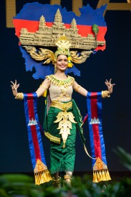 Rern Nat, Miss Cambodia 2018 on stage during the National Costume Show, an international tradition where contestants display an authentic costume of choice that best represents the culture of their home country, on December 10th at Nongnooch Pattaya International Convention Exhibition (NICE). The Miss Universe contestants are touring, filming, rehearsing and preparing to compete for the Miss Universe crown in Bangkok, Thailand. Tune in to the FOX telecast at 7:00 PM ET live/PT tape-delayed on Sunday, December 16, 2018 from the IMPACT Arena in Bangkok, Thailand to see who will become the next Miss Universe. HO/The Miss Universe Organization
