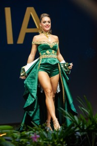 Mia Pojatina, Miss Croatia 2018 on stage during the National Costume Show, an international tradition where contestants display an authentic costume of choice that best represents the culture of their home country, on December 10th at Nongnooch Pattaya International Convention Exhibition (NICE). The Miss Universe contestants are touring, filming, rehearsing and preparing to compete for the Miss Universe crown in Bangkok, Thailand. Tune in to the FOX telecast at 7:00 PM ET live/PT tape-delayed on Sunday, December 16, 2018 from the IMPACT Arena in Bangkok, Thailand to see who will become the next Miss Universe. HO/The Miss Universe Organization