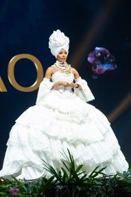 Akisha Albert, Miss Curacao 2018 on stage during the National Costume Show, an international tradition where contestants display an authentic costume of choice that best represents the culture of their home country, on December 10th at Nongnooch Pattaya International Convention Exhibition (NICE). The Miss Universe contestants are touring, filming, rehearsing and preparing to compete for the Miss Universe crown in Bangkok, Thailand. Tune in to the FOX telecast at 7:00 PM ET live/PT tape-delayed on Sunday, December 16, 2018 from the IMPACT Arena in Bangkok, Thailand to see who will become the next Miss Universe. HO/The Miss Universe Organization