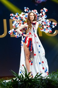 Lea Steflickova, Miss Czech Republic 2018 on stage during the National Costume Show, an international tradition where contestants display an authentic costume of choice that best represents the culture of their home country, on December 10th at Nongnooch Pattaya International Convention Exhibition (NICE). The Miss Universe contestants are touring, filming, rehearsing and preparing to compete for the Miss Universe crown in Bangkok, Thailand. Tune in to the FOX telecast at 7:00 PM ET live/PT tape-delayed on Sunday, December 16, 2018 from the IMPACT Arena in Bangkok, Thailand to see who will become the next Miss Universe. HO/The Miss Universe Organization