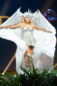 Alina Voronkova, Miss Finland 2018 on stage during the National Costume Show, an international tradition where contestants display an authentic costume of choice that best represents the culture of their home country, on December 10th at Nongnooch Pattaya International Convention Exhibition (NICE). The Miss Universe contestants are touring, filming, rehearsing and preparing to compete for the Miss Universe crown in Bangkok, Thailand. Tune in to the FOX telecast at 7:00 PM ET live/PT tape-delayed on Sunday, December 16, 2018 from the IMPACT Arena in Bangkok, Thailand to see who will become the next Miss Universe. HO/The Miss Universe Organization
