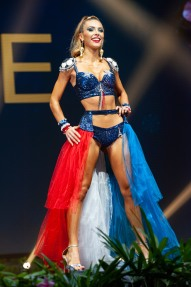 Eva Colas, Miss France 2018 on stage during the National Costume Show, an international tradition where contestants display an authentic costume of choice that best represents the culture of their home country, on December 10th at Nongnooch Pattaya International Convention Exhibition (NICE). The Miss Universe contestants are touring, filming, rehearsing and preparing to compete for the Miss Universe crown in Bangkok, Thailand. Tune in to the FOX telecast at 7:00 PM ET live/PT tape-delayed on Sunday, December 16, 2018 from the IMPACT Arena in Bangkok, Thailand to see who will become the next Miss Universe. HO/The Miss Universe Organization