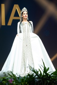 Lara Yan, Miss Georgia 2018 on stage during the National Costume Show, an international tradition where contestants display an authentic costume of choice that best represents the culture of their home country, on December 10th at Nongnooch Pattaya International Convention Exhibition (NICE). The Miss Universe contestants are touring, filming, rehearsing and preparing to compete for the Miss Universe crown in Bangkok, Thailand. Tune in to the FOX telecast at 7:00 PM ET live/PT tape-delayed on Sunday, December 16, 2018 from the IMPACT Arena in Bangkok, Thailand to see who will become the next Miss Universe. HO/The Miss Universe Organization