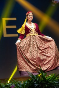 Ioanna Bella, Miss Greece 2018 on stage during the National Costume Show, an international tradition where contestants display an authentic costume of choice that best represents the culture of their home country, on December 10th at Nongnooch Pattaya International Convention Exhibition (NICE). The Miss Universe contestants are touring, filming, rehearsing and preparing to compete for the Miss Universe crown in Bangkok, Thailand. Tune in to the FOX telecast at 7:00 PM ET live/PT tape-delayed on Sunday, December 16, 2018 from the IMPACT Arena in Bangkok, Thailand to see who will become the next Miss Universe. HO/The Miss Universe Organization