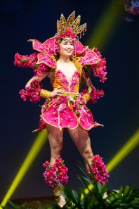 Athena Su McNinch, Miss Guam 2018 on stage during the National Costume Show, an international tradition where contestants display an authentic costume of choice that best represents the culture of their home country, on December 10th at Nongnooch Pattaya International Convention Exhibition (NICE). The Miss Universe contestants are touring, filming, rehearsing and preparing to compete for the Miss Universe crown in Bangkok, Thailand. Tune in to the FOX telecast at 7:00 PM ET live/PT tape-delayed on Sunday, December 16, 2018 from the IMPACT Arena in Bangkok, Thailand to see who will become the next Miss Universe. HO/The Miss Universe Organization