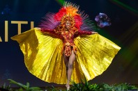 Samantha Colas, Miss Haiti 2018 on stage during the National Costume Show, an international tradition where contestants display an authentic costume of choice that best represents the culture of their home country, on December 10th at Nongnooch Pattaya International Convention Exhibition (NICE). The Miss Universe contestants are touring, filming, rehearsing and preparing to compete for the Miss Universe crown in Bangkok, Thailand. Tune in to the FOX telecast at 7:00 PM ET live/PT tape-delayed on Sunday, December 16, 2018 from the IMPACT Arena in Bangkok, Thailand to see who will become the next Miss Universe. HO/The Miss Universe Organization