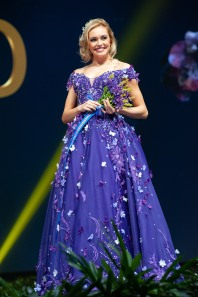 Katrin Lea Elenudottir, Miss Iceland 2018 on stage during the National Costume Show, an international tradition where contestants display an authentic costume of choice that best represents the culture of their home country, on December 10th at Nongnooch Pattaya International Convention Exhibition (NICE). The Miss Universe contestants are touring, filming, rehearsing and preparing to compete for the Miss Universe crown in Bangkok, Thailand. Tune in to the FOX telecast at 7:00 PM ET live/PT tape-delayed on Sunday, December 16, 2018 from the IMPACT Arena in Bangkok, Thailand to see who will become the next Miss Universe. HO/The Miss Universe Organization