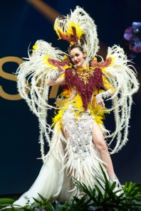 Sonia Fergina Citra, Miss Indonesia 2018 on stage during the National Costume Show, an international tradition where contestants display an authentic costume of choice that best represents the culture of their home country, on December 10th at Nongnooch Pattaya International Convention Exhibition (NICE). The Miss Universe contestants are touring, filming, rehearsing and preparing to compete for the Miss Universe crown in Bangkok, Thailand. Tune in to the FOX telecast at 7:00 PM ET live/PT tape-delayed on Sunday, December 16, 2018 from the IMPACT Arena in Bangkok, Thailand to see who will become the next Miss Universe. HO/The Miss Universe Organization