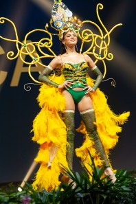 Emily Sara-Claire Maddison, Miss Jamaica 2018 on stage during the National Costume Show, an international tradition where contestants display an authentic costume of choice that best represents the culture of their home country, on December 10th at Nongnooch Pattaya International Convention Exhibition (NICE). The Miss Universe contestants are touring, filming, rehearsing and preparing to compete for the Miss Universe crown in Bangkok, Thailand. Tune in to the FOX telecast at 7:00 PM ET live/PT tape-delayed on Sunday, December 16, 2018 from the IMPACT Arena in Bangkok, Thailand to see who will become the next Miss Universe. HO/The Miss Universe Organization
