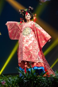 Ji-Hyun Baek, Miss Korea 2018 on stage during the National Costume Show, an international tradition where contestants display an authentic costume of choice that best represents the culture of their home country, on December 10th at Nongnooch Pattaya International Convention Exhibition (NICE). The Miss Universe contestants are touring, filming, rehearsing and preparing to compete for the Miss Universe crown in Bangkok, Thailand. Tune in to the FOX telecast at 7:00 PM ET live/PT tape-delayed on Sunday, December 16, 2018 from the IMPACT Arena in Bangkok, Thailand to see who will become the next Miss Universe. HO/The Miss Universe Organization