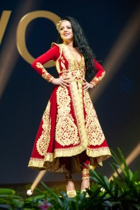 Zana Berisha, Miss Kosovo 2018 on stage during the National Costume Show, an international tradition where contestants display an authentic costume of choice that best represents the culture of their home country, on December 10th at Nongnooch Pattaya International Convention Exhibition (NICE). The Miss Universe contestants are touring, filming, rehearsing and preparing to compete for the Miss Universe crown in Bangkok, Thailand. Tune in to the FOX telecast at 7:00 PM ET live/PT tape-delayed on Sunday, December 16, 2018 from the IMPACT Arena in Bangkok, Thailand to see who will become the next Miss Universe. HO/The Miss Universe Organization