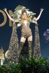 Maya Reaidy, Miss Lebanon 2018 on stage during the National Costume Show, an international tradition where contestants display an authentic costume of choice that best represents the culture of their home country, on December 10th at Nongnooch Pattaya International Convention Exhibition (NICE). The Miss Universe contestants are touring, filming, rehearsing and preparing to compete for the Miss Universe crown in Bangkok, Thailand. Tune in to the FOX telecast at 7:00 PM ET live/PT tape-delayed on Sunday, December 16, 2018 from the IMPACT Arena in Bangkok, Thailand to see who will become the next Miss Universe. HO/The Miss Universe Organization