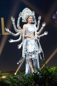 Manita Devkota, Miss Nepal 2018 on stage during the National Costume Show, an international tradition where contestants display an authentic costume of choice that best represents the culture of their home country, on December 10th at Nongnooch Pattaya International Convention Exhibition (NICE). The Miss Universe contestants are touring, filming, rehearsing and preparing to compete for the Miss Universe crown in Bangkok, Thailand. Tune in to the FOX telecast at 7:00 PM ET live/PT tape-delayed on Sunday, December 16, 2018 from the IMPACT Arena in Bangkok, Thailand to see who will become the next Miss Universe. HO/The Miss Universe Organization