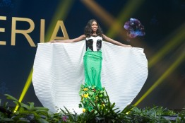 Aramide Lopez, Miss Nigeria 2018 on stage during the National Costume Show, an international tradition where contestants display an authentic costume of choice that best represents the culture of their home country, on December 10th at Nongnooch Pattaya International Convention Exhibition (NICE). The Miss Universe contestants are touring, filming, rehearsing and preparing to compete for the Miss Universe crown in Bangkok, Thailand. Tune in to the FOX telecast at 7:00 PM ET live/PT tape-delayed on Sunday, December 16, 2018 from the IMPACT Arena in Bangkok, Thailand to see who will become the next Miss Universe. HO/The Miss Universe Organization