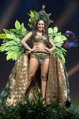 Romina Lozano, Miss Peru 2018 on stage during the National Costume Show, an international tradition where contestants display an authentic costume of choice that best represents the culture of their home country, on December 10th at Nongnooch Pattaya International Convention Exhibition (NICE). The Miss Universe contestants are touring, filming, rehearsing and preparing to compete for the Miss Universe crown in Bangkok, Thailand. Tune in to the FOX telecast at 7:00 PM ET live/PT tape-delayed on Sunday, December 16, 2018 from the IMPACT Arena in Bangkok, Thailand to see who will become the next Miss Universe. HO/The Miss Universe Organization