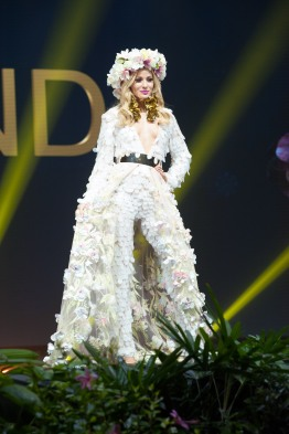 Magdalena Swat, Miss Poland 2018 on stage during the National Costume Show, an international tradition where contestants display an authentic costume of choice that best represents the culture of their home country, on December 10th at Nongnooch Pattaya International Convention Exhibition (NICE). The Miss Universe contestants are touring, filming, rehearsing and preparing to compete for the Miss Universe crown in Bangkok, Thailand. Tune in to the FOX telecast at 7:00 PM ET live/PT tape-delayed on Sunday, December 16, 2018 from the IMPACT Arena in Bangkok, Thailand to see who will become the next Miss Universe. HO/The Miss Universe Organization