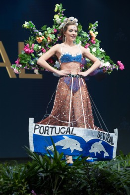 Filipa Barroso, Miss Portugal 2018 on stage during the National Costume Show, an international tradition where contestants display an authentic costume of choice that best represents the culture of their home country, on December 10th at Nongnooch Pattaya International Convention Exhibition (NICE). The Miss Universe contestants are touring, filming, rehearsing and preparing to compete for the Miss Universe crown in Bangkok, Thailand. Tune in to the FOX telecast at 7:00 PM ET live/PT tape-delayed on Sunday, December 16, 2018 from the IMPACT Arena in Bangkok, Thailand to see who will become the next Miss Universe. HO/The Miss Universe Organization