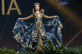 Yulia Polyachikhina, Miss Russia 2018 on stage during the National Costume Show, an international tradition where contestants display an authentic costume of choice that best represents the culture of their home country, on December 10th at Nongnooch Pattaya International Convention Exhibition (NICE). The Miss Universe contestants are touring, filming, rehearsing and preparing to compete for the Miss Universe crown in Bangkok, Thailand. Tune in to the FOX telecast at 7:00 PM ET live/PT tape-delayed on Sunday, December 16, 2018 from the IMPACT Arena in Bangkok, Thailand to see who will become the next Miss Universe. HO/The Miss Universe Organization