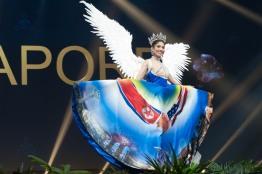 Zahra Khanum, Miss Singapore 2018 on stage during the National Costume Show, an international tradition where contestants display an authentic costume of choice that best represents the culture of their home country, on December 10th at Nongnooch Pattaya International Convention Exhibition (NICE). The Miss Universe contestants are touring, filming, rehearsing and preparing to compete for the Miss Universe crown in Bangkok, Thailand. Tune in to the FOX telecast at 7:00 PM ET live/PT tape-delayed on Sunday, December 16, 2018 from the IMPACT Arena in Bangkok, Thailand to see who will become the next Miss Universe. HO/The Miss Universe Organization
