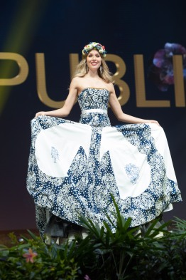 Barbora Hanová, Miss Slovak Republic 2018 on stage during the National Costume Show, an international tradition where contestants display an authentic costume of choice that best represents the culture of their home country, on December 10th at Nongnooch Pattaya International Convention Exhibition (NICE). The Miss Universe contestants are touring, filming, rehearsing and preparing to compete for the Miss Universe crown in Bangkok, Thailand. Tune in to the FOX telecast at 7:00 PM ET live/PT tape-delayed on Sunday, December 16, 2018 from the IMPACT Arena in Bangkok, Thailand to see who will become the next Miss Universe. HO/The Miss Universe Organization