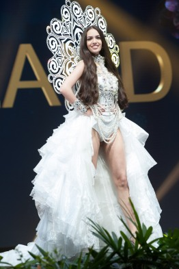 Jastina Doreen Riederer, Miss Switzerland 2018 on stage during the National Costume Show, an international tradition where contestants display an authentic costume of choice that best represents the culture of their home country, on December 10th at Nongnooch Pattaya International Convention Exhibition (NICE). The Miss Universe contestants are touring, filming, rehearsing and preparing to compete for the Miss Universe crown in Bangkok, Thailand. Tune in to the FOX telecast at 7:00 PM ET live/PT tape-delayed on Sunday, December 16, 2018 from the IMPACT Arena in Bangkok, Thailand to see who will become the next Miss Universe. HO/The Miss Universe Organization