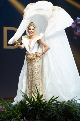 Sophida Kanchanarin, Miss Thailand 2018 on stage during the National Costume Show, an international tradition where contestants display an authentic costume of choice that best represents the culture of their home country, on December 10th at Nongnooch Pattaya International Convention Exhibition (NICE). The Miss Universe contestants are touring, filming, rehearsing and preparing to compete for the Miss Universe crown in Bangkok, Thailand. Tune in to the FOX telecast at 7:00 PM ET live/PT tape-delayed on Sunday, December 16, 2018 from the IMPACT Arena in Bangkok, Thailand to see who will become the next Miss Universe. HO/The Miss Universe Organization