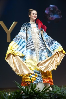 Sofía Marrero, Miss Uruguay 2018 on stage during the National Costume Show, an international tradition where contestants display an authentic costume of choice that best represents the culture of their home country, on December 10th at Nongnooch Pattaya International Convention Exhibition (NICE). The Miss Universe contestants are touring, filming, rehearsing and preparing to compete for the Miss Universe crown in Bangkok, Thailand. Tune in to the FOX telecast at 7:00 PM ET live/PT tape-delayed on Sunday, December 16, 2018 from the IMPACT Arena in Bangkok, Thailand to see who will become the next Miss Universe. HO/The Miss Universe Organization