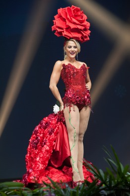 Sarah Rose Summers, Miss USA 2018 on stage during the National Costume Show, an international tradition where contestants display an authentic costume of choice that best represents the culture of their home country, on December 10th at Nongnooch Pattaya International Convention Exhibition (NICE). The Miss Universe contestants are touring, filming, rehearsing and preparing to compete for the Miss Universe crown in Bangkok, Thailand. Tune in to the FOX telecast at 7:00 PM ET live/PT tape-delayed on Sunday, December 16, 2018 from the IMPACT Arena in Bangkok, Thailand to see who will become the next Miss Universe. HO/The Miss Universe Organization