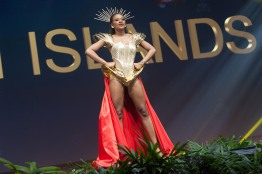 Aniska Tonge, Miss US Virgin Islands 2018 on stage during the National Costume Show, an international tradition where contestants display an authentic costume of choice that best represents the culture of their home country, on December 10th at Nongnooch Pattaya International Convention Exhibition (NICE). The Miss Universe contestants are touring, filming, rehearsing and preparing to compete for the Miss Universe crown in Bangkok, Thailand. Tune in to the FOX telecast at 7:00 PM ET live/PT tape-delayed on Sunday, December 16, 2018 from the IMPACT Arena in Bangkok, Thailand to see who will become the next Miss Universe. HO/The Miss Universe Organization