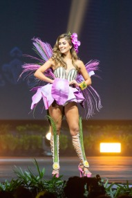 Valeria Morales, Miss Colombia 2018 on stage during the National Costume Show, an international tradition where contestants display an authentic costume of choice that best represents the culture of their home country, on December 10th at Nongnooch Pattaya International Convention Exhibition (NICE). The Miss Universe contestants are touring, filming, rehearsing and preparing to compete for the Miss Universe crown in Bangkok, Thailand. Tune in to the FOX telecast at 7:00 PM ET live/PT tape-delayed on Sunday, December 16, 2018 from the IMPACT Arena in Bangkok, Thailand to see who will become the next Miss Universe. HO/The Miss Universe Organization