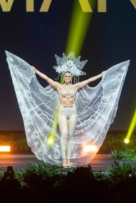 Helena Heuser, Miss Denmark 2018 on stage during the National Costume Show, an international tradition where contestants display an authentic costume of choice that best represents the culture of their home country, on December 10th at Nongnooch Pattaya International Convention Exhibition (NICE). The Miss Universe contestants are touring, filming, rehearsing and preparing to compete for the Miss Universe crown in Bangkok, Thailand. Tune in to the FOX telecast at 7:00 PM ET live/PT tape-delayed on Sunday, December 16, 2018 from the IMPACT Arena in Bangkok, Thailand to see who will become the next Miss Universe. HO/The Miss Universe Organization