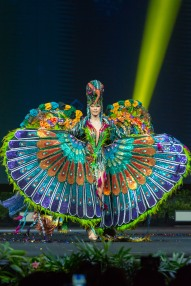 Virginia Limongi, Miss Ecuador 2018 on stage during the National Costume Show, an international tradition where contestants display an authentic costume of choice that best represents the culture of their home country, on December 10th at Nongnooch Pattaya International Convention Exhibition (NICE). The Miss Universe contestants are touring, filming, rehearsing and preparing to compete for the Miss Universe crown in Bangkok, Thailand. Tune in to the FOX telecast at 7:00 PM ET live/PT tape-delayed on Sunday, December 16, 2018 from the IMPACT Arena in Bangkok, Thailand to see who will become the next Miss Universe. HO/The Miss Universe Organization
