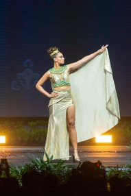 Nariman Khaled, Miss Egypt 2018 on stage during the National Costume Show, an international tradition where contestants display an authentic costume of choice that best represents the culture of their home country, on December 10th at Nongnooch Pattaya International Convention Exhibition (NICE). The Miss Universe contestants are touring, filming, rehearsing and preparing to compete for the Miss Universe crown in Bangkok, Thailand. Tune in to the FOX telecast at 7:00 PM ET live/PT tape-delayed on Sunday, December 16, 2018 from the IMPACT Arena in Bangkok, Thailand to see who will become the next Miss Universe. HO/The Miss Universe Organization